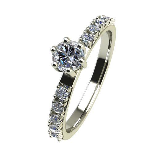 Годежен Пръстен бяло злато с диамант Nova 0,27 ct. 2458