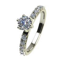 Годежен Пръстен бяло злато с диамант Nova 0,32 ct. 2459