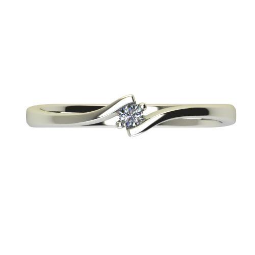Годежен Пръстен бяло злато с диамант Open 0,04 ct. 2443 a