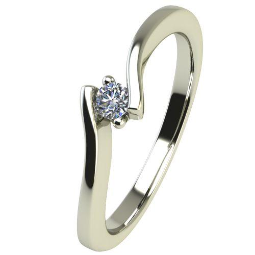 Годежен Пръстен бяло злато с диамант Open 0,04 ct. 2443