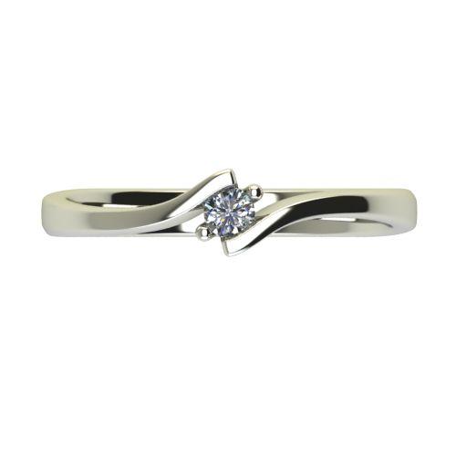 Годежен Пръстен бяло злато с диамант Open 0,07 ct. 2444 a