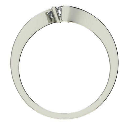 Годежен Пръстен бяло злато с диамант Open 0,07 ct. 2444 b