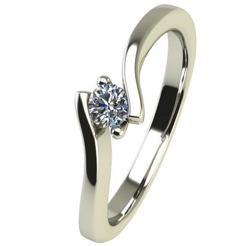 Годежен Пръстен бяло злато с диамант Open 0,07 ct. 2444