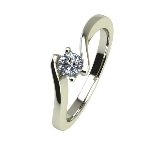 Годежен Пръстен бяло злато с диамант Open 0,12 ct. 2445