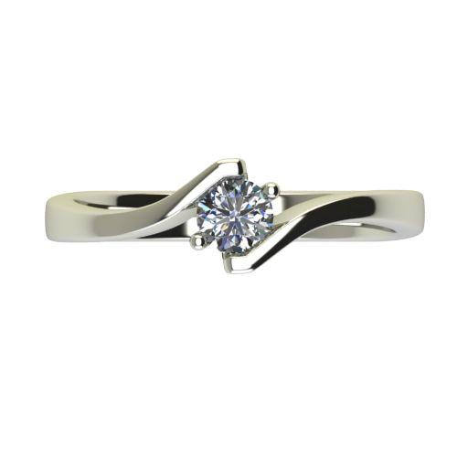 Годежен Пръстен бяло злато с диамант Open 0,25 ct. 2447 a