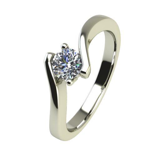 Годежен Пръстен бяло злато с диамант Open 0,25 ct. 2447