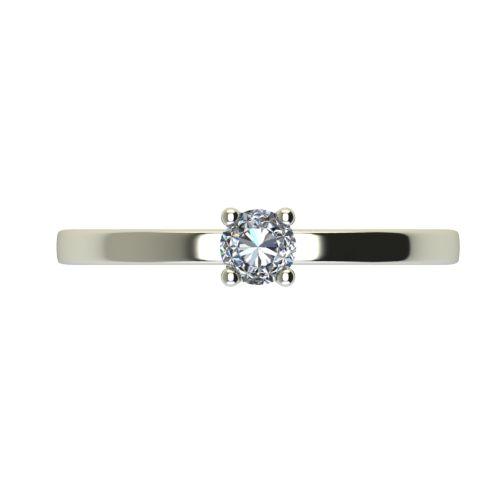 Годежен Пръстен бяло злато с диамант Piece 0,04 ct. 2466 a