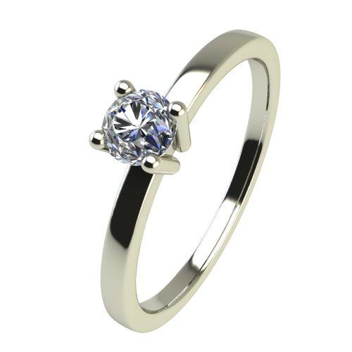 Годежен Пръстен бяло злато с диамант Piece 0,04 ct. 2466