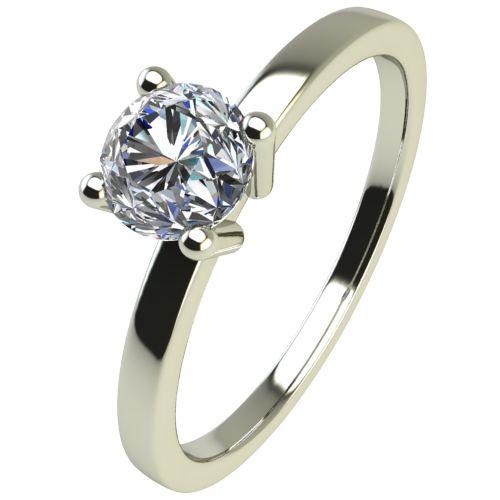 Годежен Пръстен бяло злато с диамант Piece 0,07 ct. 2467