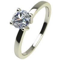 Годежен Пръстен бяло злато с диамант Piece 0,12 ct. 2468