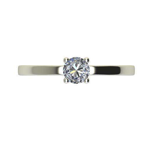 Годежен Пръстен бяло злато с диамант Piece 0,12 ct. 2468 a