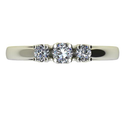 Годежен Пръстен бяло злато с диамант Prest 0,15 ct. 2453 a