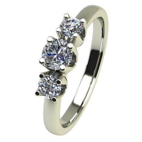 Годежен Пръстен бяло злато с диамант Prest 0,15 ct. 2453
