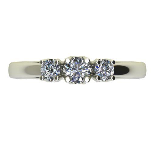 Годежен Пръстен бяло злато с диамант Prest 0,20 ct. 2454 a