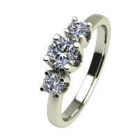 Годежен Пръстен бяло злато с диамант Prest 0,25 ct. 2455