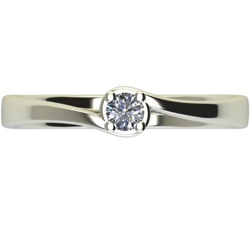 Годежен Пръстен бяло злато с диамант Unity 0,04 ct. 2448 a