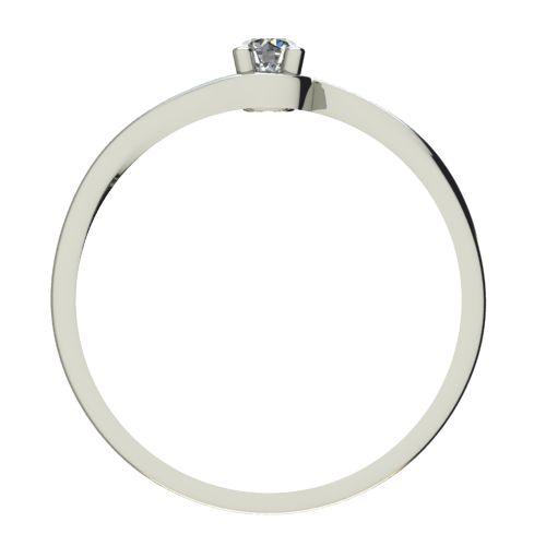 Годежен Пръстен бяло злато с диамант Unity 0,04 ct. 2448 b
