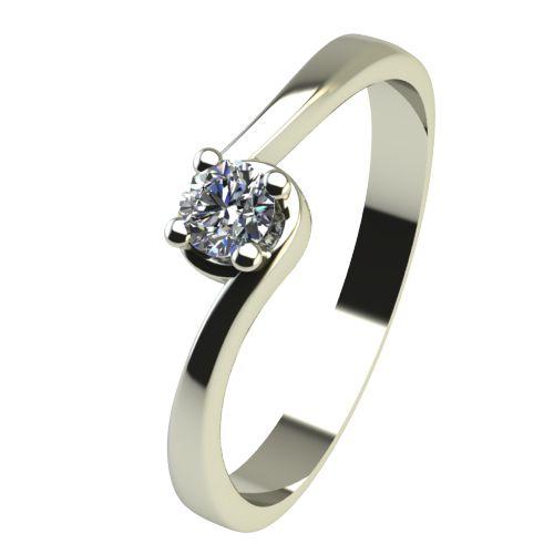 Годежен Пръстен бяло злато с диамант Unity 0,04 ct. 2448