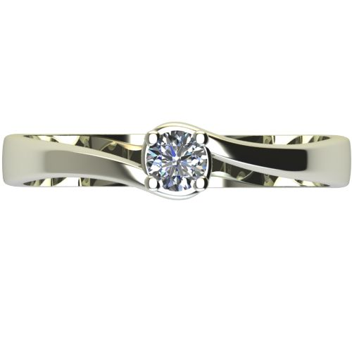 Годежен Пръстен бяло злато с диамант Unity 0,07 ct. 2449 a