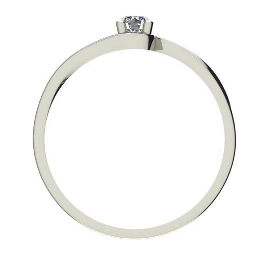 Годежен Пръстен бяло злато с диамант Unity 0,07 ct. 2449 b