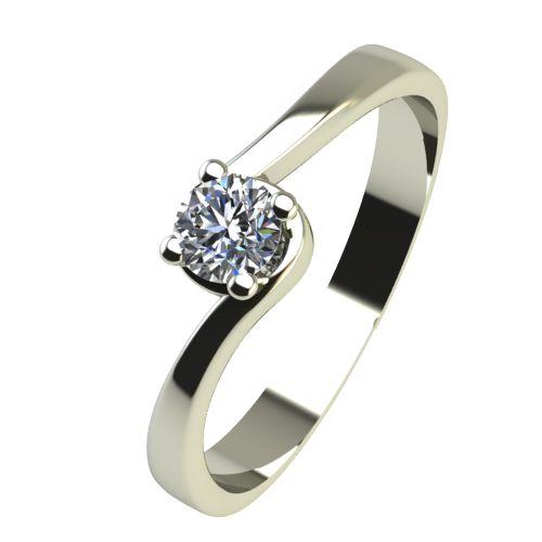 Годежен Пръстен бяло злато с диамант Unity 0,07 ct. 2449