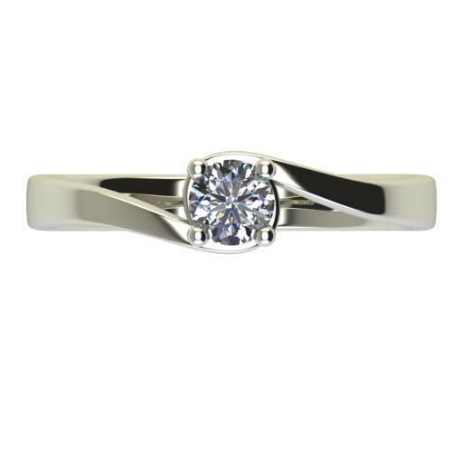 Годежен Пръстен бяло злато с диамант Unity 0,12 ct. 2450 a