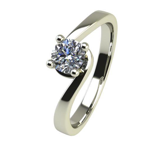 Годежен Пръстен бяло злато с диамант Unity 0,12 ct. 2450