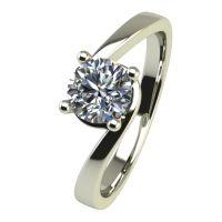 Годежен Пръстен бяло злато с диамант Unity 0,17 ct. 2451