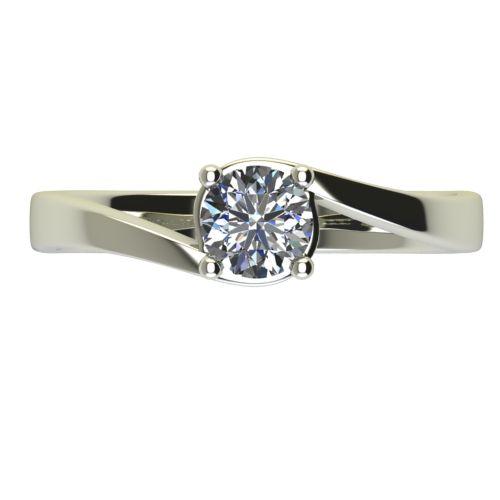 Годежен Пръстен бяло злато с диамант Unity 0,17 ct. 2451 a