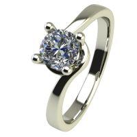 Годежен Пръстен бяло злато с диамант Unity 0,25 ct. 2452