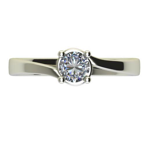 Годежен Пръстен бяло злато с диамант Unity 0,25 ct. 2452 a