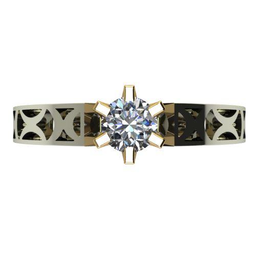 Годежен Пръстен от злато с диамант Nets 0,25 ct. 2437 a