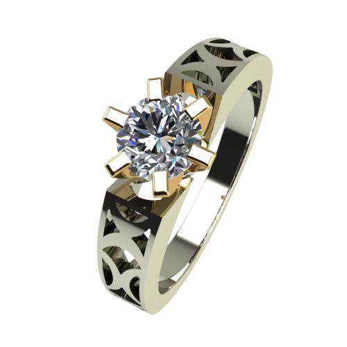 Годежен Пръстен от злато с диамант Nets 0,25 ct. 2437