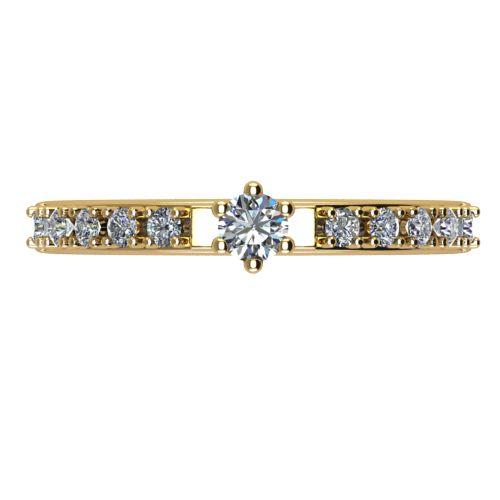 Годежен Пръстен жълто злато с диамант Nova 0,19 ct. 2461 a