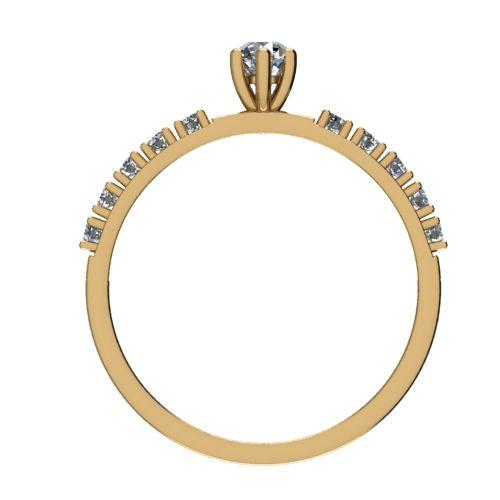 Годежен Пръстен жълто злато с диамант Nova 0,19 ct. 2461 b