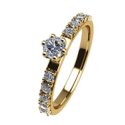 Годежен Пръстен жълто злато с диамант Nova 0,19 ct. 2461