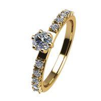 Годежен Пръстен жълто злато с диамант Nova 0,22 ct. 2462