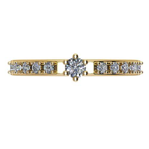 Годежен Пръстен жълто злато с диамант Nova 0,22 ct. 2462 a