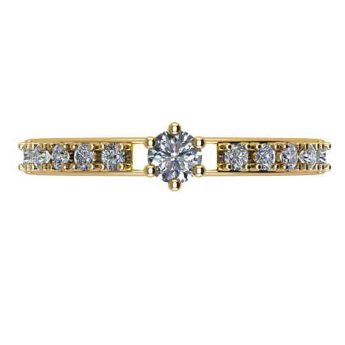 Годежен Пръстен жълто злато с диамант Nova 0,27 ct. 2463 a