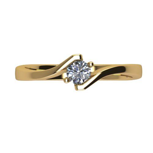 Годежен Пръстен жълто злато с диамант Open 0,17 ct. 2446 a