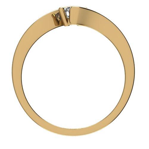 Годежен Пръстен жълто злато с диамант Open 0,17 ct. 2446 b