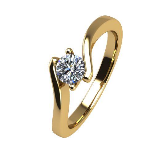 Годежен Пръстен жълто злато с диамант Open 0,17 ct. 2446