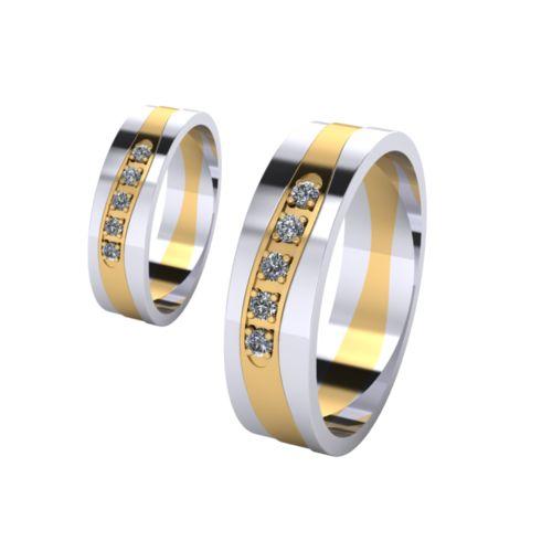 Брачни Халки бяло и жълто злато Shines кат.номер 7276