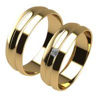 Брачни Халки жълто злато модел Rouli кат.номер 7236