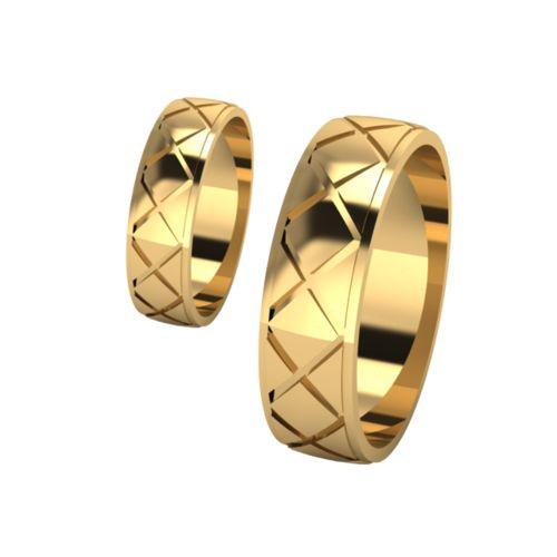 Брачни Халки жълто злато модел Taste кат.номер 7269