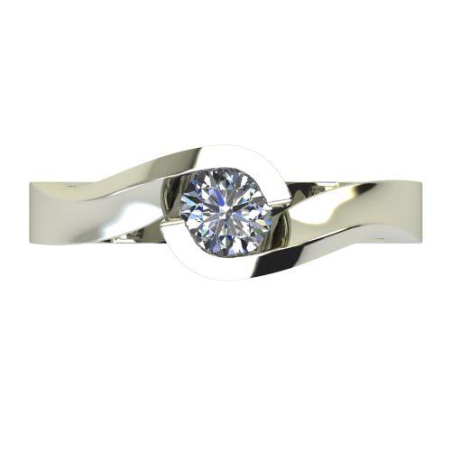 Годежен Пръстен бяло злато с диамант Accent 0,25 ct. 2472 a