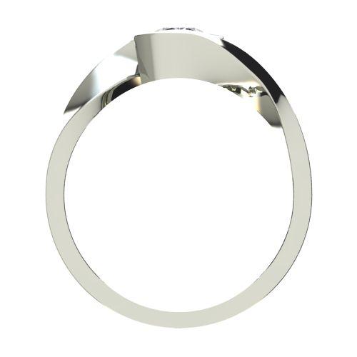Годежен Пръстен бяло злато с диамант Accent 0,25 ct. 2472 b