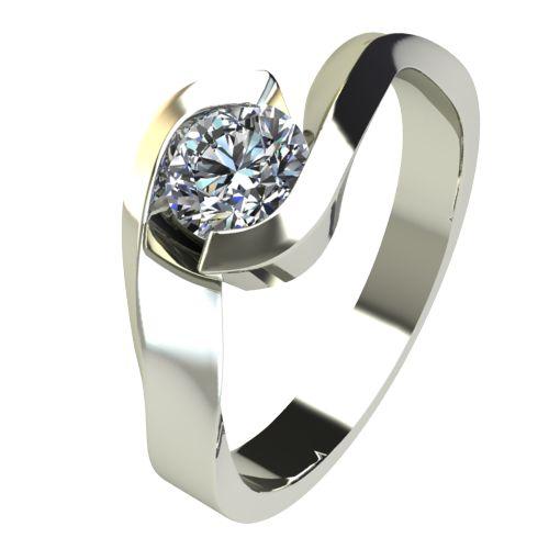 Годежен Пръстен бяло злато с диамант Accent 0,25 ct. 2472