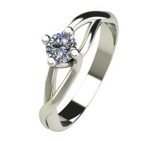 Годежен Пръстен бяло злато с диамант Cast 0,17 ct. 2470