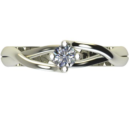 Годежен Пръстен бяло злато с диамант Cast 0,17 ct. 2470 a